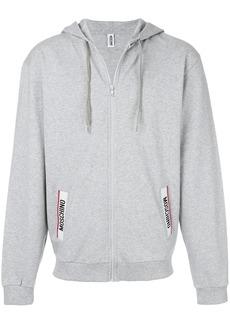 Moschino logo pocket hoodie - Grey