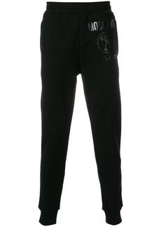 Moschino logo print joggers - Black