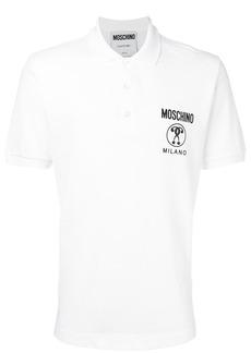 Moschino logo print polo shirt - White
