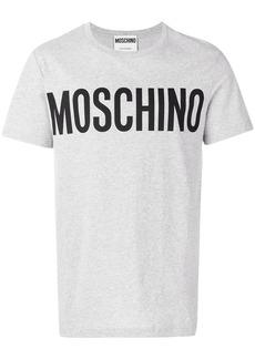 Moschino logo print T-shirt - Grey