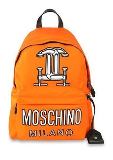 Moschino Logo-Print Tech-Fabric Backpack