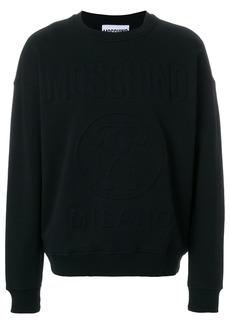 Moschino logo relief sweatshirt - Black