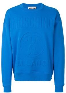 Moschino logo relief sweatshirt - Blue