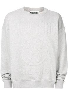 Moschino logo relief sweatshirt - Grey