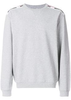 Moschino logo shoulder stripe sweatshirt - Grey