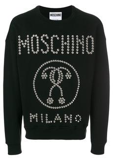 Moschino logo studded sweatshirt - Black