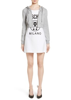 Moschino Logo T-Shirt Dress with Attached Jacket