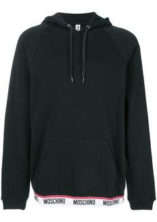 Moschino logo trim hoodie - Black