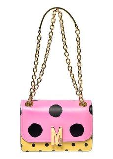 Moschino M Dot Leather Shoulder Bag