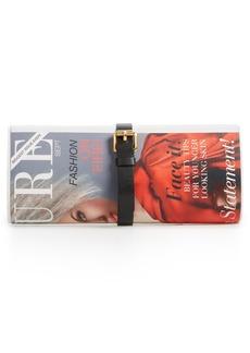 Moschino Magazine Faux Leather Crossbody Bag
