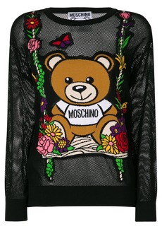 Moschino mesh Teddy swing sweater - Black