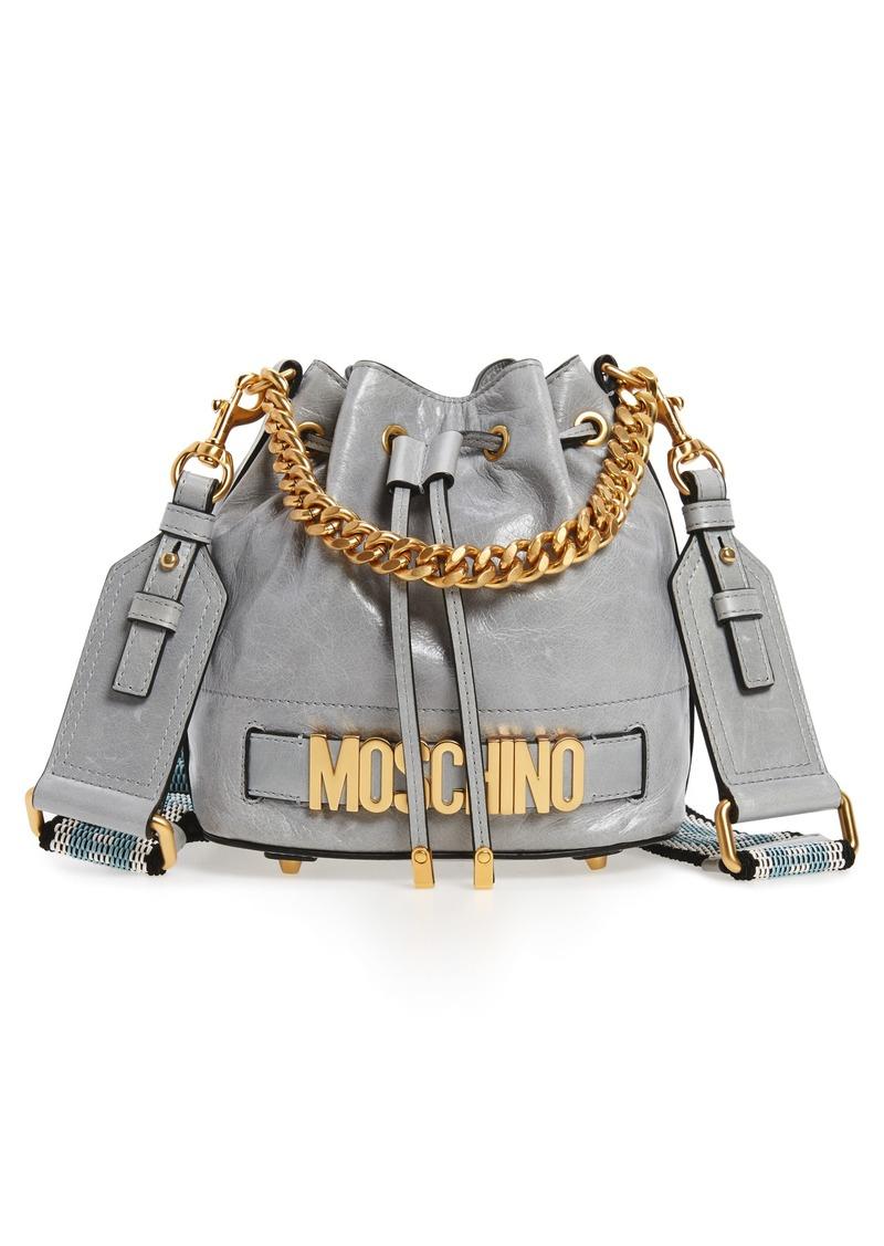 7264bb1e063 Moschino Moschino Metal Logo Bucket Bag | Handbags