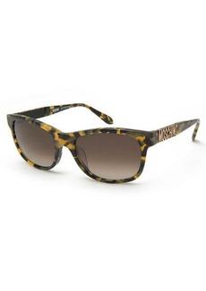 Moschino Metal-Logo Rectangular Monochromatic Sunglasses