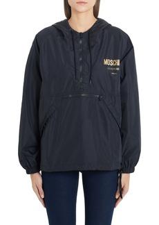 Moschino Metallic Logo Nylon Jacket