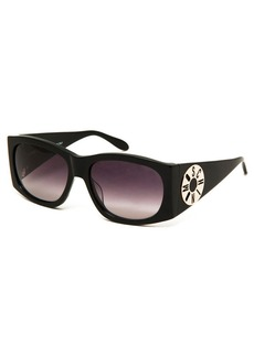 Moschino Monochromatic Logo-Disc Oval Sunglasses