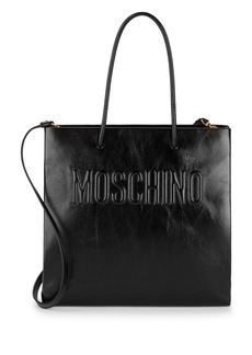 Moschino Open Top Leather Tote