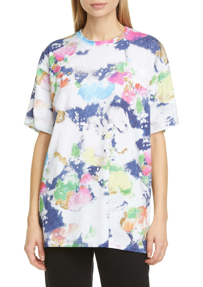 Moschino Paint Print Oversized T-Shirt