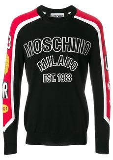 Moschino panelled sweatshirt - Black