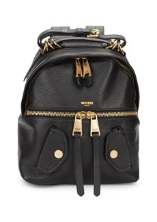 Moschino Pebbled Leather Backpack
