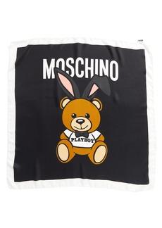 Moschino Playboy Bear Silk Scarf