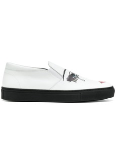 Moschino pop art print slip-on sneakers - White
