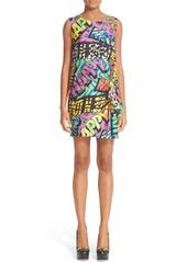 Moschino Print Silk Shift Dress