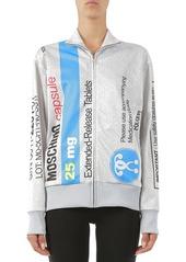 Moschino Print Zip Sweatshirt