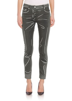 Moschino Printed Faux Denim Pants