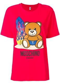 Moschino printed oversized T-shirt - Red