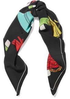 Moschino Printed silk crepe de chine scarf