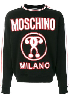 Moschino question mark sweatshirt - Black