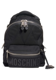 Moschino Quilted Canvas Backpack