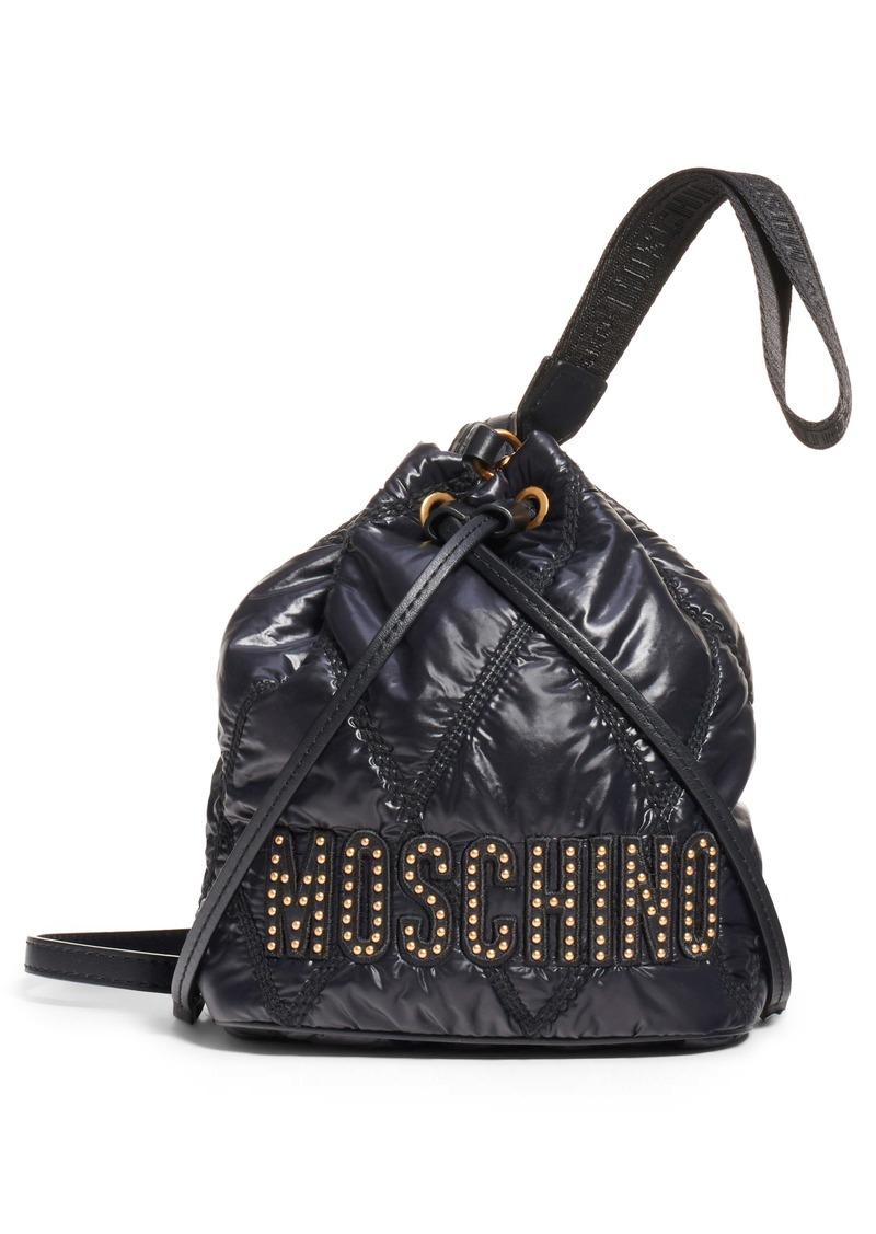 Moschino Quilted Nylon Bucket Bag