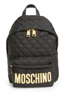Moschino Quilted Nylon Logo Backpack