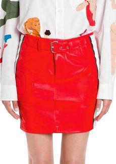 Moschino Racecar Leather Skirt