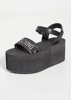 Moschino Ribbon Platform Sandals