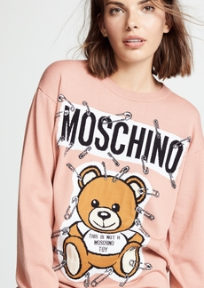 Moschino Safety Pin Bear Sweater