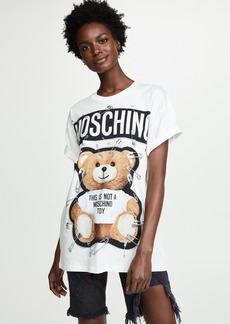 Moschino Safety Pin Oversized Bear Tee