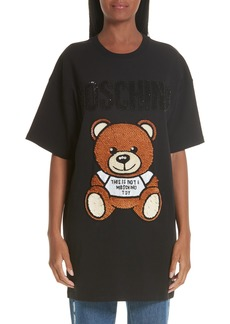 Moschino Sequin Teddy T-Shirt Dress