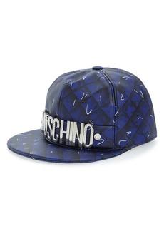 Moschino 'Shadow' Leather Baseball Cap