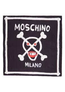 Moschino Skull Silk Scarf