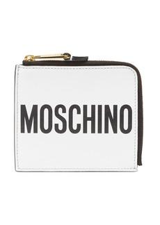 Moschino Sleek Leather Ziparound Wallet