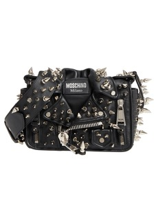 Moschino Spiked Biker Jacket Crossbody Bag