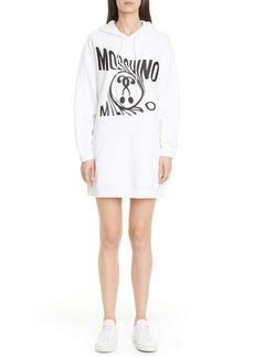 Moschino Spooky Logo Long Sleeve Hoodie Minidress