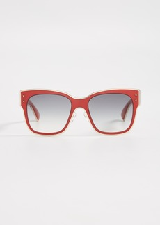 Moschino Square Gradient Frame Sunglasses