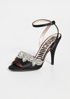 Moschino Stone Embellished Sandals