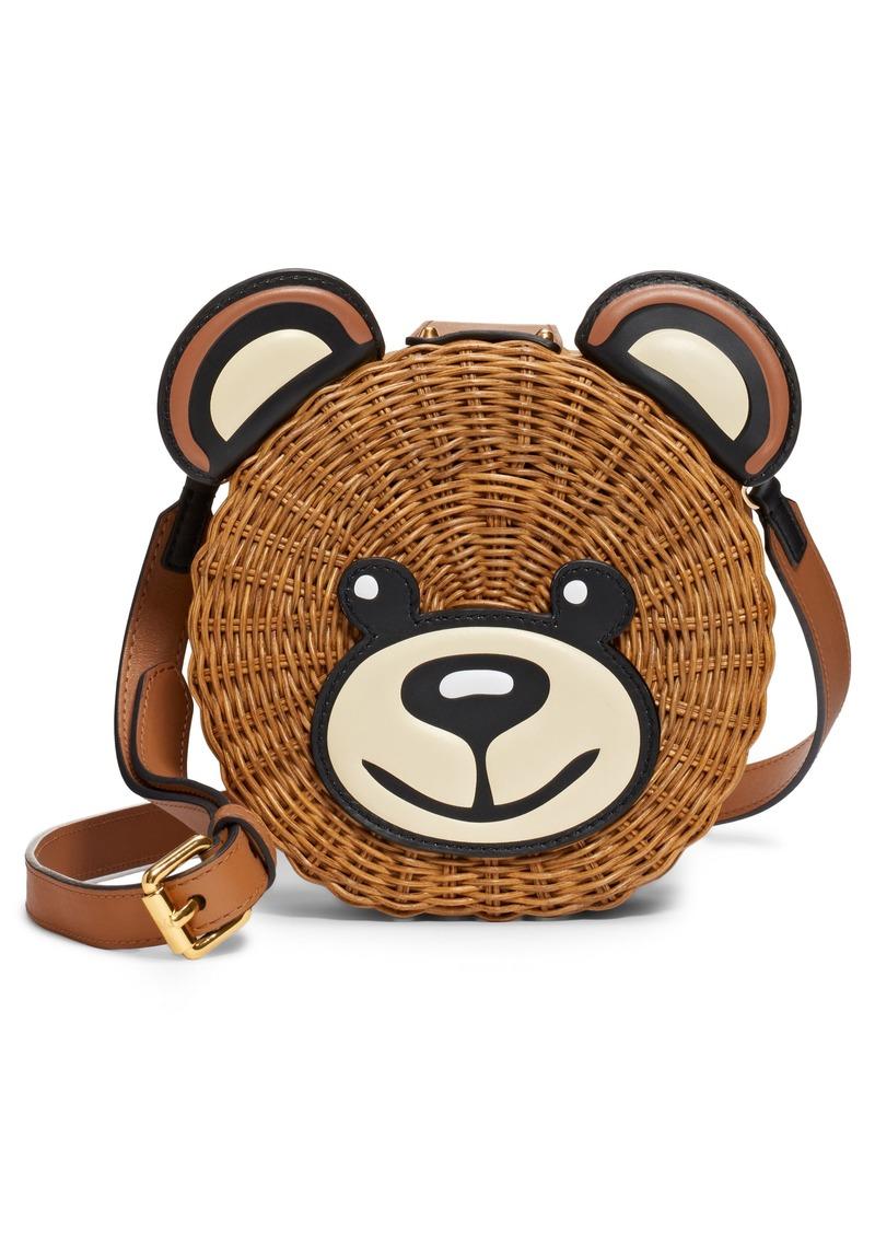 Moschino Straw Teddy Crossbody Bag