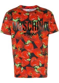 Moschino strawberry print T-shirt - Red