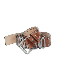 Moschino Studded Leather Belt