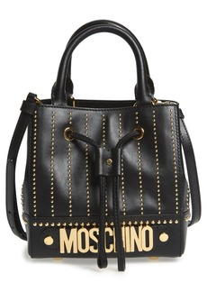 Moschino Studded Leather Bucket Bag